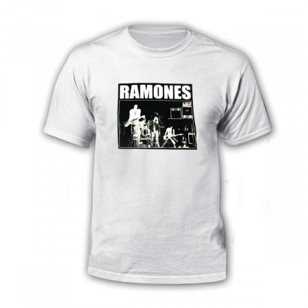 Polera Ramones I - Blanca Unisex
