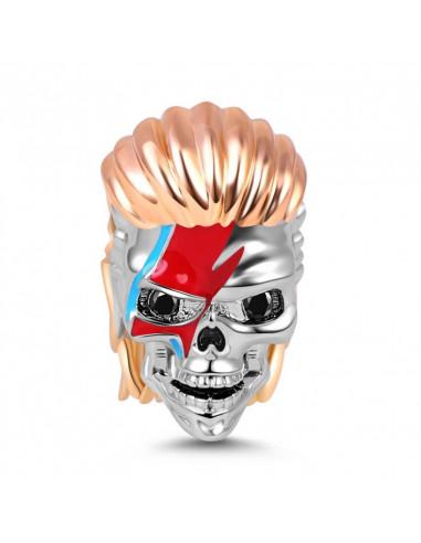 David Skull charm para pulseras