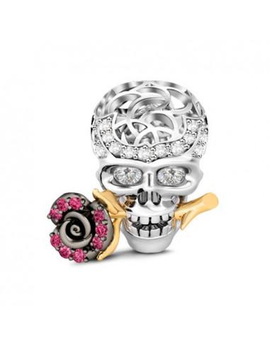 Romantic Skull charm para pulseras